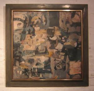 Vergolderrahmen als Schattenfugenrahmen für Gemälde von Thomas Koch
