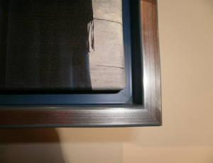 Detail der Schattenfugenrahmen