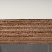 Bild von CPL-Beschichtete Birke-Multiplexplatten W1000ST9, weiß, leicht geperlte Oberfläche, 18mm, 250x125cm