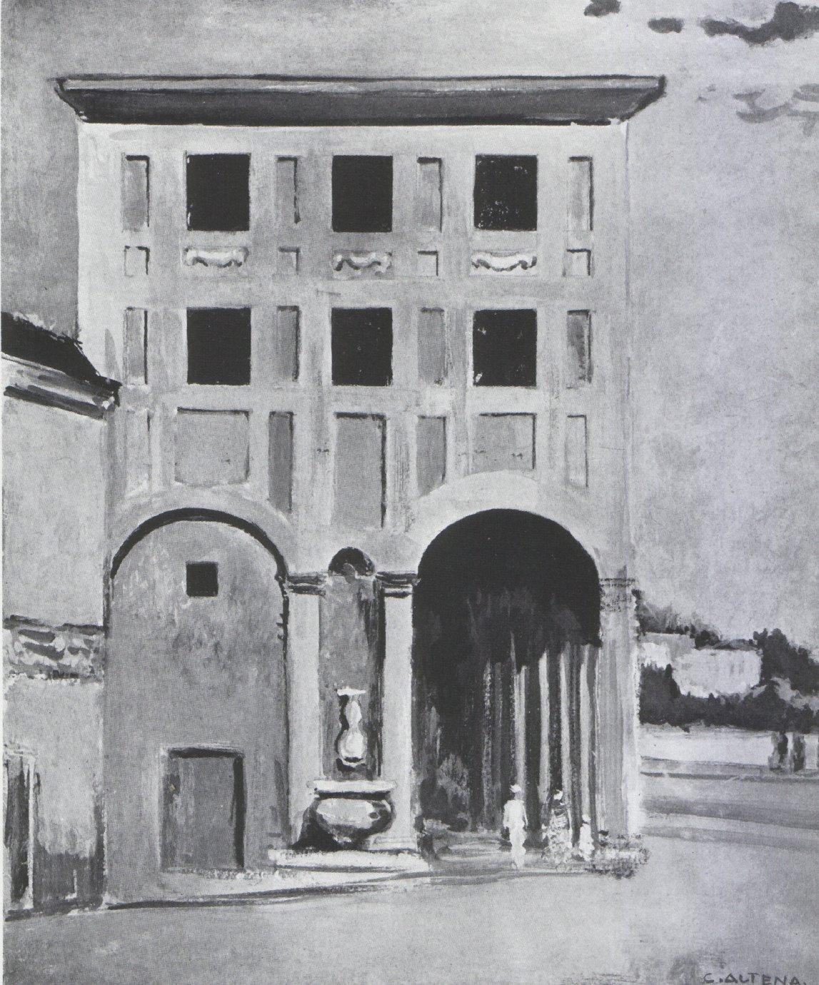 Architekturzeichnung von Carl Altena