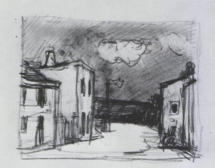 Architekturzeichnung von Altena.