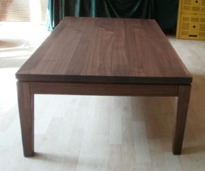 Leimholzplatte aus Nußbaum als Tischplatte, Nußbaumtisch