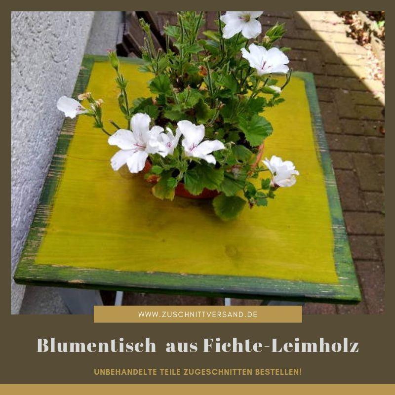 Farbig gemachte Fichte-Leimholzplatte für ein Blumentischchen