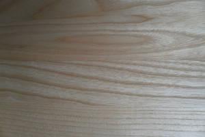 Ansicht einer  Esche-Leimholzplatte mit durchgehenden Lamellen