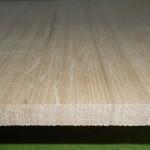 Bild von Eiche-Leimholzplattenzuschnitte mit durchgehenden Lamellen, 10mm, Qual. A/B