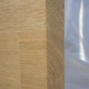 Bild von Eiche-Leimholzplatte, keilgezinkte Lamellen, 19mm, Möbelqualität