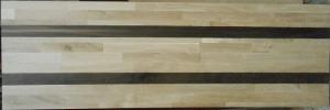 Eichen-Leimholzplatte mit Räuchereiche-Riegeln