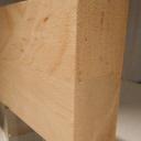 Bild von Erle-Leimholzplatte, durchgehende Lamellen, 40mm, 140x121