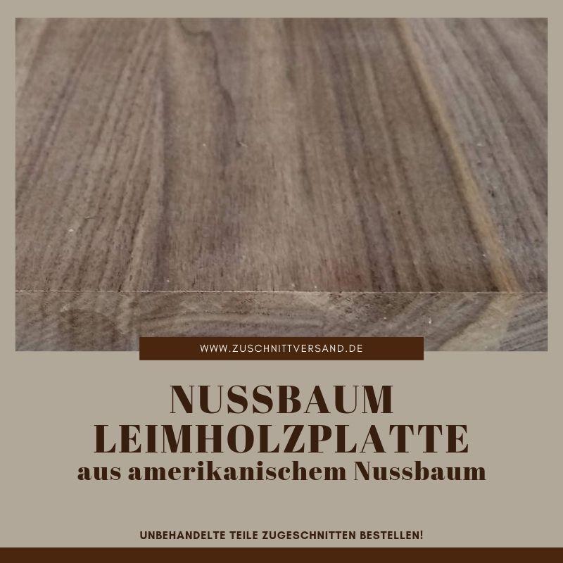 Leimholzplatte aus amerikanischem Nussbaum