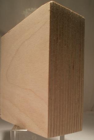Bild von Birke-Multiplexplatten, schälfurniert, 40mm, 150x300cm, BB/BB