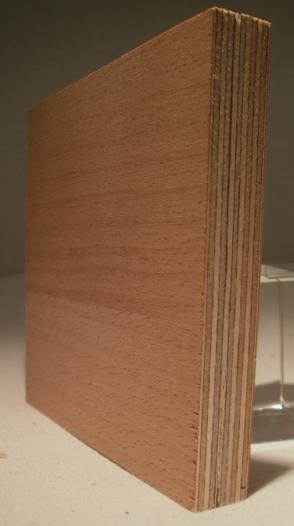 Bild von Buche-Multiplexplatten, messerfurniert, Birke-Innenlagen, 15mm, 250x125cm