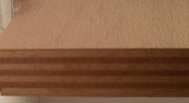 20mm Buche-Multiplexplatte schälfurniert, Ansicht der Buchen-Schichten