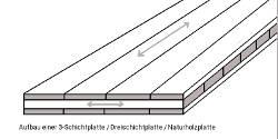 Skizze Aufbau Fichte-Dreischichtplatten