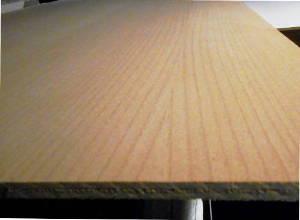 schälurnierte Buche-Sperrholzplatte : Ansicht des Deck-Furniers einer Seite