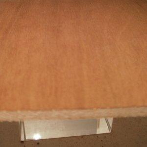 Kirschbaum-Sperrholzplatte : Ansicht der Furnierschichten