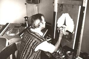Hans-Georg Strauch beim Malen