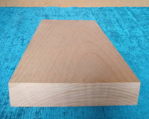 Unverleimtes gehobeltes Buche-Brett, aus einem Stück, Bucheholz