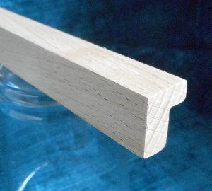 Buche-Bilderrahmenleiste Modell LBUBI-015020, 15mm breit, 20mm hoch