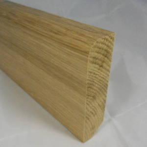 Fussleisten / Fußleiste aus Eiche, 20mm stark, 80mm hoch