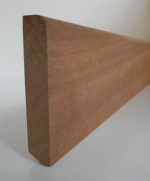 Fussleisten / Fußleiste aus Mahagoni, 12mm stark, 60mm hoch
