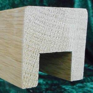 Eiche-Handlaufleiste 50x50 mm mit Nut, obere Kanten gefast
