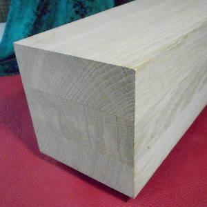 Eiche-Kantholz 140x140mm, aus mehreren durchgehenden Lamellen verleimt