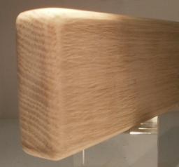 Eiche-Bankleiste 25x64mm