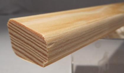 Kiefer-Glasleiste Modell GL2418, 24x18mm, abgeschrägtes Profil mit Rundungen