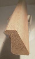 Meranti-Glasleiste Modell GL2530, 25x30 mm, Leiste mit Falz und Schräge