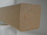 Buche-Handlaufleiste 40x40mm mit gerundeten Kanten