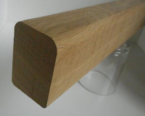 Handlaufleisten / Handläufe aus Eiche, 40mm stark, 60mm hoch