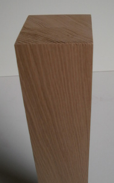 quadratisches Tischbein aus Eiche 60x60mm, Modell 1005