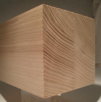 Leistenfoto Esche-Kantholz 70x70mm