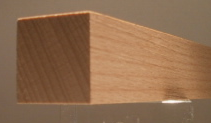 Buche-Quadratstab 25x25mm