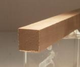 Nussbaum-Quadratstab 15x15mm