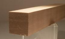 Nussbaum-Quadratstab 25x25mm