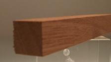 Sipo-Mahagoni-Quadratstab 15x15mm