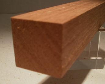 Sipo-Mahagoni-Quadratstab 35x35mm