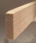 Ahorn-Rechteckleiste 5x20 mm