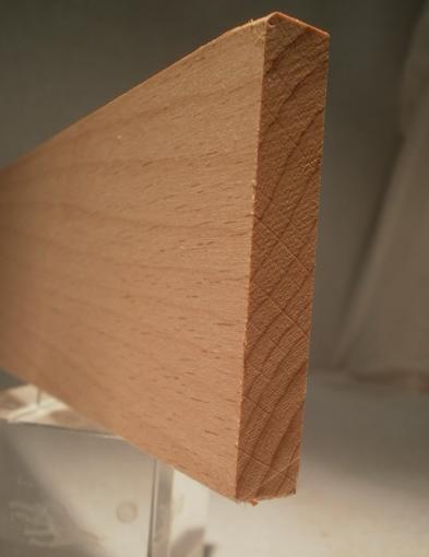 Ahorn-Rechteckleiste 10x60 mm