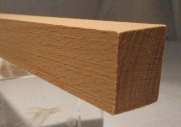 Buche-Rechteckleiste 15x20 mm