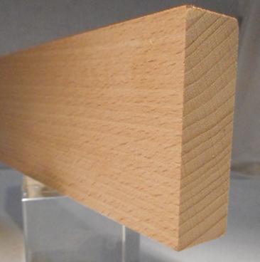 Buche-Rechteckleiste 20x60 mm