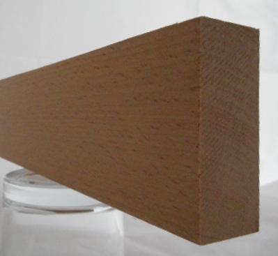Buche-Rechteckleiste 25x60 mm