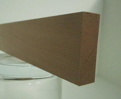 Elsbeere-Rechteckleiste 10x30 mm (Schweizer Birnbaum)