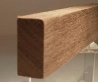 Nussbaum-Rechteckleiste 10x25 mm