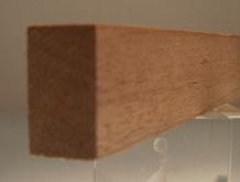 Sipo-Mahagoni-Rechteckleiste 15x25 mm