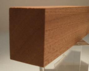 Sipo-Mahagoni-Rechteckleisten 30x40 mm