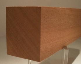 Sipo-Mahagoni-Rechteckleisten 40x50 mm
