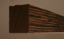 Wenge-Rechteckleiste 20x25 mm