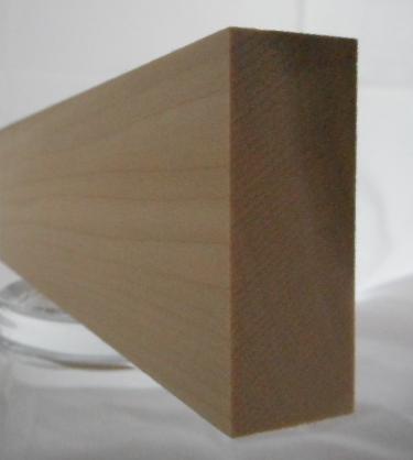 Yellow-Poplar-Rechteckleiste 20x50 mm